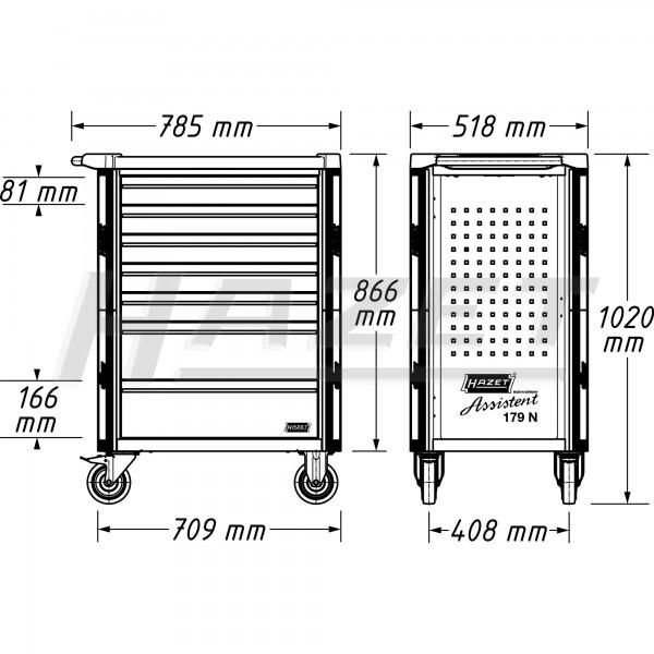 Tủ đồ nghề 8 ngăn 264pcs cho xe BMW