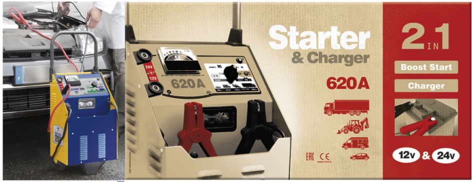 Máy nạp ắc quy và hỗ trợ khởi động Neostart 620