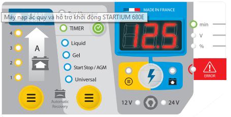 Máy nạp ắc quy và hỗ trợ khởi động STARTIUM 980E