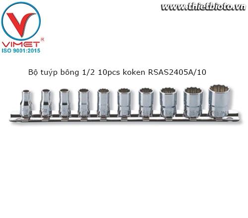 Bộ tuýp bông 1/2 10pcs koken RSAS2405A/10