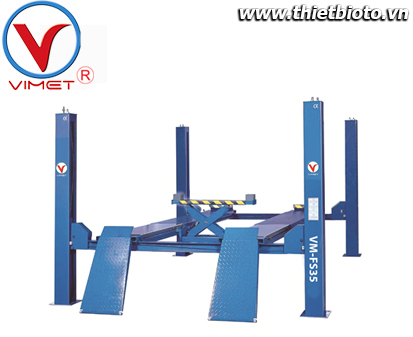 Cầu nâng 4 trụ loại cầu nâng có chức năng kiểm tra góc lái