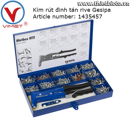 Hộp dụng cụ kìm tán đinh rive Gesipa 1435457 NIETBOX