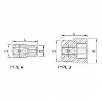 Tuýp lục giác 1/4 inch Toptul BAEA0807