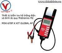 Thiết bị kiểm tra hệ thống điện và bình ắc quy Midtronics MDX-670P K KIT GLOBAL AP